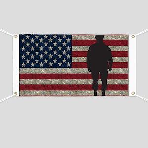 USFlag Soldier YS Banner