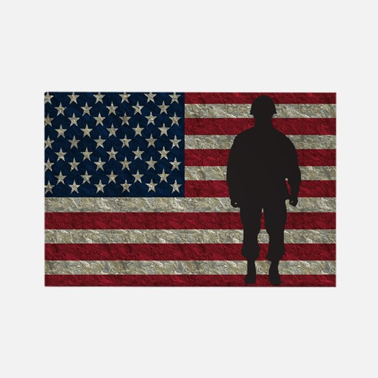 Usflag Soldier Ys Magnets