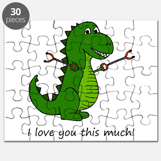 I love you this much! T-Rex Dinosaur with G Puzzle