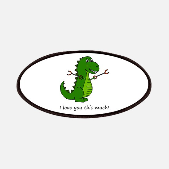 I love you this much! T-Rex Dinosaur with Gr Patch