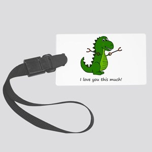 I love you this much! T-Rex Dino Large Luggage Tag