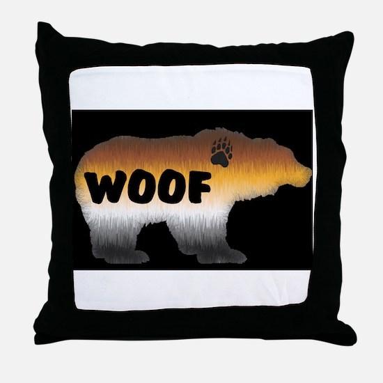 PRIDE BEAR/WOOF/BLK Throw Pillow