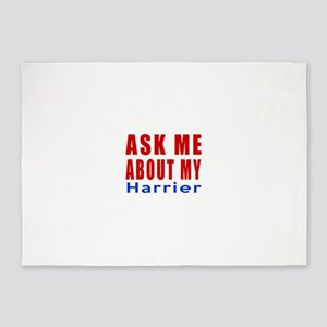 Ask Me About My Harrier Dog Designs 5'x7'Area Rug
