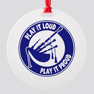 PLAY PROUD Round Ornament