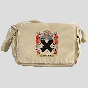 Cristian Coat of Arms - Family Crest Messenger Bag