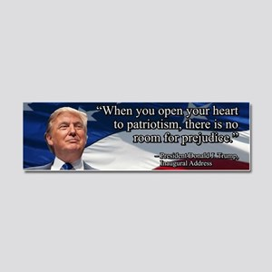 PRES45 OPEN YOUR HEART Car Magnet 10 x 3