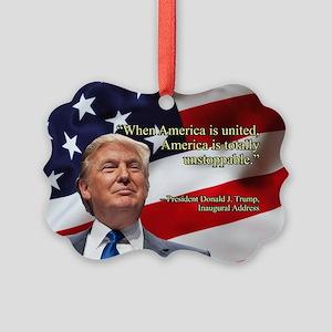 PRES45 AMERICA UNITED Picture Ornament