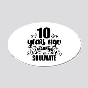 10th Anniversary 20x12 Oval Wall Decal