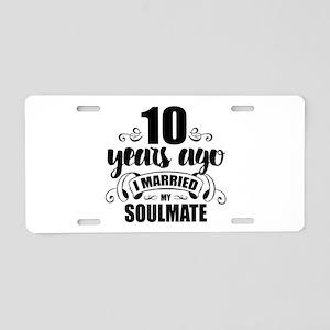 10th Anniversary Aluminum License Plate