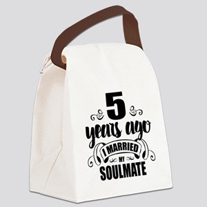 5th Anniversary Canvas Lunch Bag