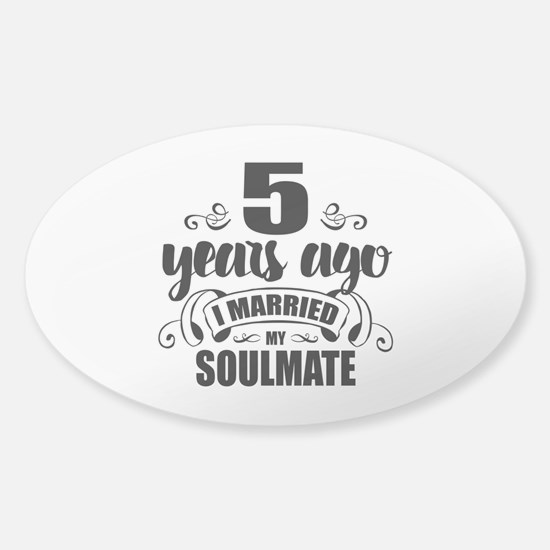 5th Anniversary Sticker (Oval)