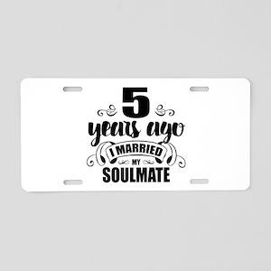 5th Anniversary Aluminum License Plate