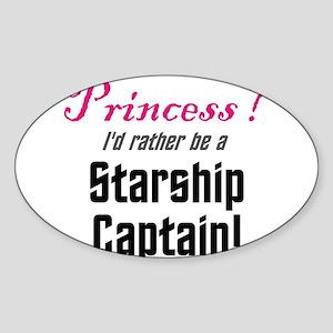Starship Captain Sticker