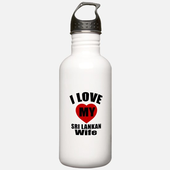 I Love My Sri Lankan W Water Bottle