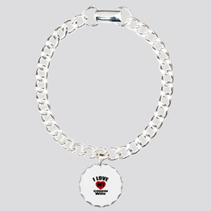 I Love My Slovakian Wife Charm Bracelet, One Charm