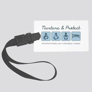 Attachment Parenting Large Luggage Tag