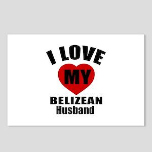 I Love My Belizean Husban Postcards (Package of 8)