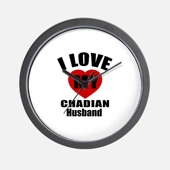 I Love My Chadian Husband Wall Clock