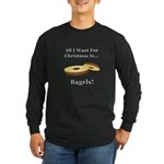 Christmas Bagels Long Sleeve Dark T-Shirt