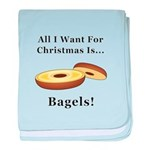 Christmas Bagels baby blanket