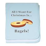 Christmas Bagels baby blanket
