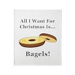 Christmas Bagels Throw Blanket