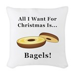 Christmas Bagels Woven Throw Pillow