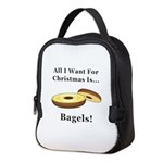 Christmas Bagels Neoprene Lunch Bag