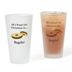 Christmas Bagels Drinking Glass