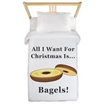 Christmas Bagels Twin Duvet