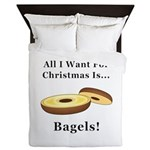 Christmas Bagels Queen Duvet