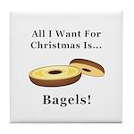 Christmas Bagels Tile Coaster