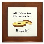Christmas Bagels Framed Tile