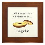 Christmas Bagels Framed Tile