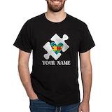 Personalized autism Mens Classic Dark T-Shirts