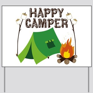 Happy Camper Yard Sign