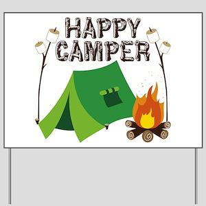 Happy Camper Yard Sign