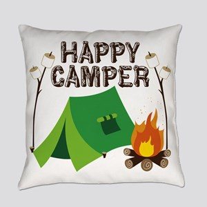 Happy Camper Everyday Pillow
