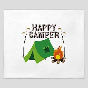 Happy Camper King Duvet