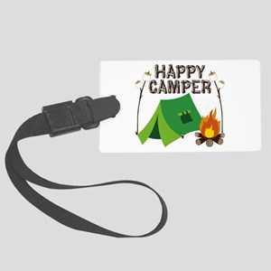Happy Camper Luggage Tag