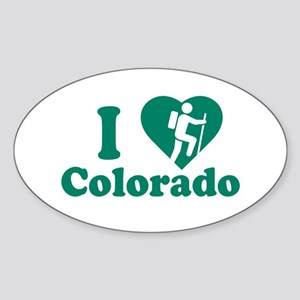 Love Hiking Colorado Sticker (Oval)