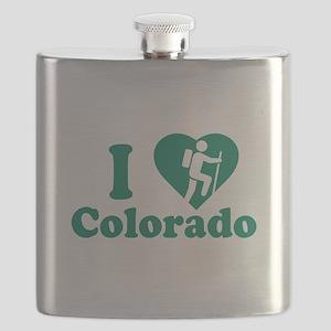 Love Hiking Colorado Flask