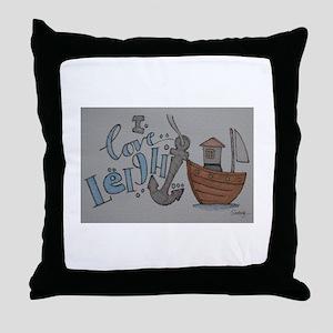 i love leigh on sea Throw Pillow
