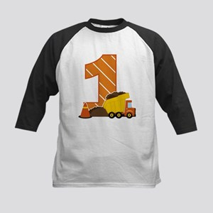 Construction 1st Birthday Baseball Jersey