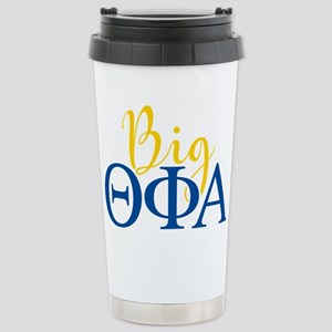 Theta Phi Alpha Big Let Stainless Steel Travel Mug