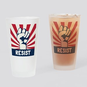 RESIST Fist Drinking Glass