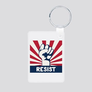 RESIST Fist Aluminum Photo Keychain