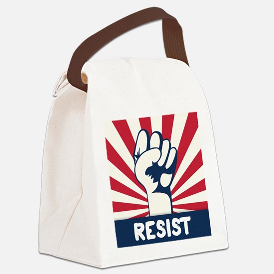 RESIST Fist Canvas Lunch Bag