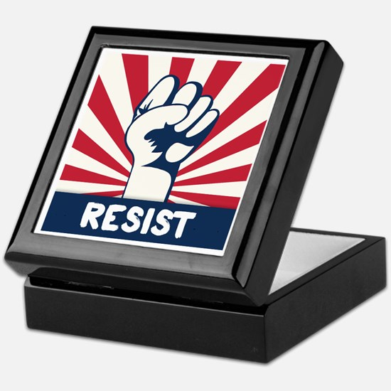 RESIST Fist Keepsake Box