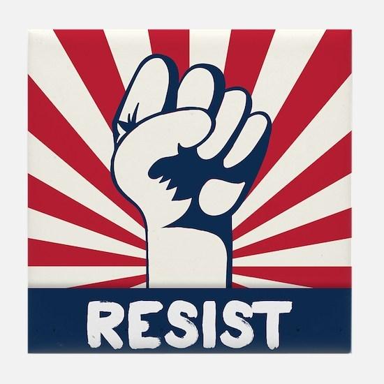 RESIST Fist Tile Coaster